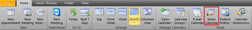 Share Calendar